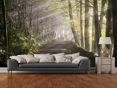 Mist In Eyam wall mural room setting