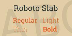 Roboto Slab Font Family · 1001 Fonts