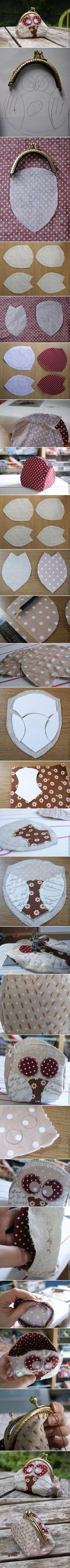 DIY Cute Fabric Owl Purse