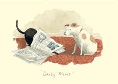 IA40 DAILY MEWS by Alison Friend - A Two Bad Mice Greeting Card