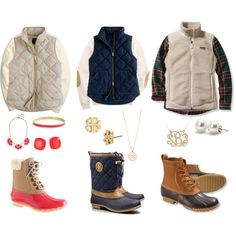 Vests and Bean Boots:)
