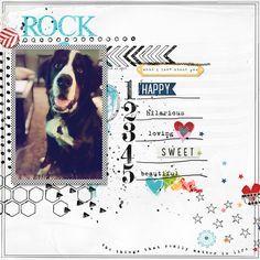 Layout: What I Love About You - What a great way to love your fur baby! Dog Scrapbook Layouts, Digital Scrapbooking Layouts, Scrapbook Pages, Candy Cards, Baby Memories, Scrapbooks, Sketches, Paper Crafts, Crafty
