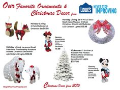 2015 Christmas Decor from Lowe's