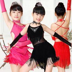 Latin Dance Salsa Dress, Dance Costumes For Girls