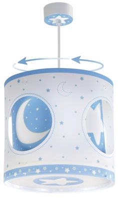 Blue Moon Περιστρεφόμενο Παιδικό Φωτιστικό Οροφής (carousel) Nocturne, Hanging Lights, Night Skies, Montage, Pendant Lamp, How To Fall Asleep, Table Lamp, Lighting, Child Room