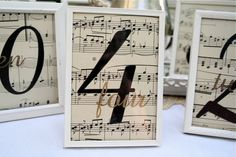 Table numbers in shadow boxes