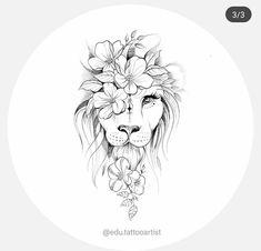 Tattoo Old School Frauen - Wave Tattoo Thigh - Small Tattoo Arm - Chest Tattoo Quotes Leo Lion Tattoos, Cute Tattoos, Unique Tattoos, Body Art Tattoos, Hand Tattoos, Sleeve Tattoos, Amazing Tattoos, Lion Thigh Tattoo, Back Thigh Tattoo