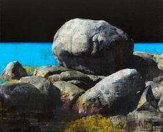 "François Bard, Le silence des songes, 2013, Oil on Canvas, 63"" x 76¾"" #Art…"