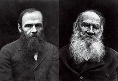 QUEM É MELHOR? Fiódor Dostoiévski (à esq.) e Liev Tolstói (à dir.), cujos Contos Completos são editados no Brasil. Tolstói fazia coro com os críticos que reprovavam o estilo soturnode Dostoiévski (Foto: Fotos: Hulton Archive/Getty Images)