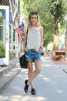 #fashion #style #blog #blogger #bridgehampton #hamptons #summer #outfit #zara #hm #boots #topshop #denim #shorts #cutoffs #cool #casual #rayban #blonde #fashionblogger