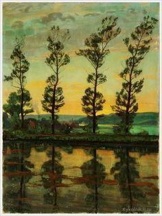 Einar Mogens Wegener (Danish, 1882-1931) «Poplerne ved Hobro» 1919