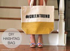 Crafty Texas Girls: DIY Hashtag Bag {Kate Spade Inspired}