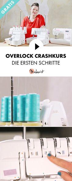 Gratis Video-Kurs für Anfänger: Erste Schritte an der Overlock - Schritt für Schritt erklärt im Video-Kurs via Makerist.de