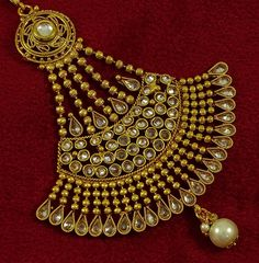 Matra Gold Tone Kundan Stone Indian Ethnic Women Jhoomar Passa Forehead Party Jewelry -- Visit the image link for more details. Jhumar, Jewelry Sets, Women Jewelry, Jewelry Party, Indian Ethnic, Image Link, Jewellery, Stone, Detail