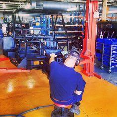 Tomcar Australia factory floor.