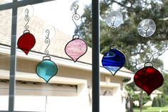 window rounds...stained glass ornament light catchers