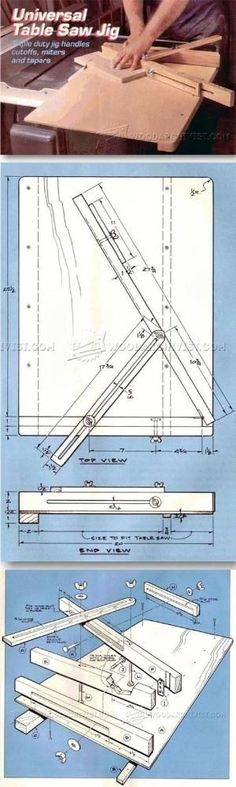 Crosscut Sled Plans - Table Saw Tips, Jigs and Fixtures by jewell #woodworkingtools