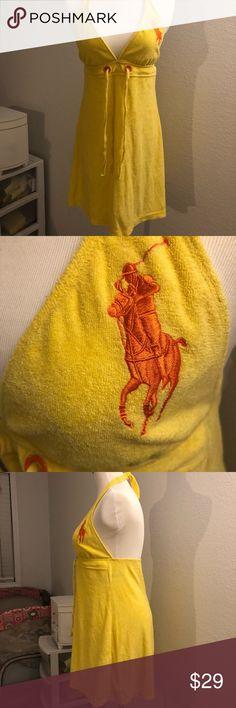 Authentic Ralph Lauren yellow dress M Used good condition  Authentic Ralph Lauren yellow dress M Ralph Lauren Dresses Mini