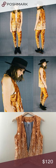 Free People Lenni The Label Rumi Vest Rust Velvet Free People Lenni The Label Rumi Vest Rust Velvet   SOLD OUT -Brand: LENNI The Label  -Size: Small -Color: Rust  -embroidered velvet  -striped pattern on the inside  -Only worn once!  -perfect condition     Lenni vintage , Spell designs , spell & the gypsy collective , Planet Blue , Lenni the label , Nasty Gal , Asos , Pacsun , Urban Outfitters , Revolve Clothing , Forever 21  , Shop Bop , Free People , LF , boho , vintage , bohemian…