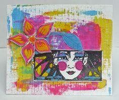 PaperArtsy: Portfolio Experiments {with Lynne Perrella Stamps by Helen Chilton}