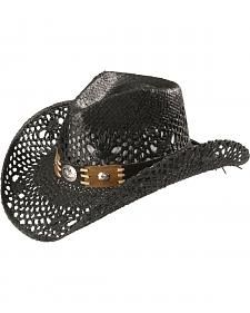 280cb6177f7 Bullhide Women s Pure Country Black Straw Cowgirl Hat 40 Years Old