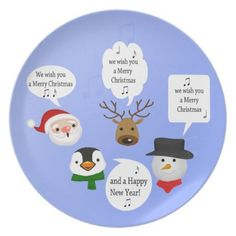 Funny We Wish You a Merry Christmas Melamine Plate - kitchen gifts diy ideas decor special unique individual customized