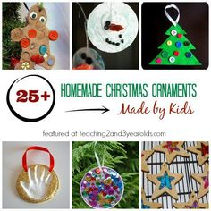 homemade christmas ornaments made by kids - plan now for Christmas!