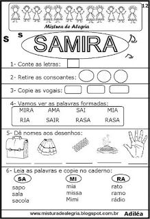 Brincando com os nomes -Samira