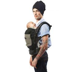 Porte-bébé JPMBB Tablier Noir poche Olive   Un porte-bébé physiologique  créé pour 094259a2eb0