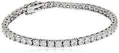 Platinum or Gold-Plated Sterling Silver Swarovski Zirconia Round-Cut Tennis Bracelet.More info for women's bangle bracelets;crystal bracelets;chain bracelet;beads for bracelets;bracelets for girls could be found at the image url.(This is an Amazon affiliate link and I receive a commission for the sales)