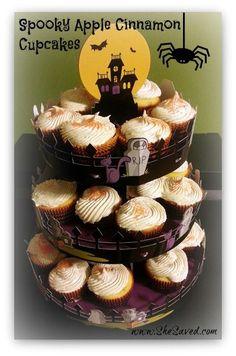 Spooky Apple Cinnamon Cupcakes