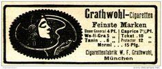 Original-Werbung/ Anzeige 1917 - GRATHWOHL CIGARETTEN - MÜNCHEN - ca. 75 x 30 mm