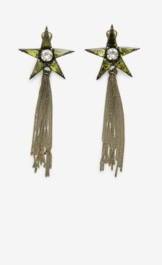 Nicole Romano Green And Bronze Earrings
