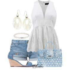 Pretty combo, careful with the denim on denim - don't want to end up like Bew*tched!