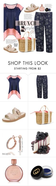 """""""Summer Brunch (plus size)"""" by beebeely-look ❤ liked on Polyvore featuring M&Co, Muuñ, Estée Lauder, Gucci, brunch, plussize, curvy, twinkledeals and brunchgoals"""