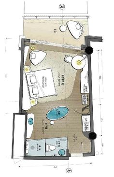 Inter Continental Shanghai Wonderland Hotel Floor Plan, House Floor Plans, Design Hotel, Bungalow Resorts, Architecture Site Plan, Circle House, Architectural Floor Plans, Hotel Interiors, Room Planning