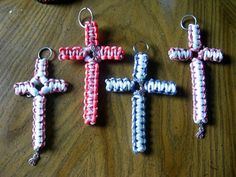 Paracord Cross Keychains for Easter   Backwoods Bracelets And More