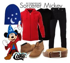 """""""Sorcerer Mickey"""" by leslieakay ❤ liked on Polyvore featuring Versace, Dockers, River Island, TOMS, disney, disneybound, mickeymouse and disneycharacter"""