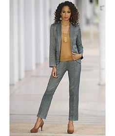 Fleur De Jacquard Suit from Monroe and Main. www.monroeandmain.com
