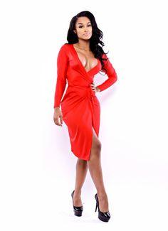 The Wrap Dress Mini (Maroon) $79 | WOMEN'S SEXY DRESSES ...