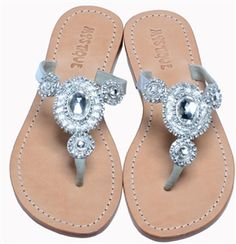 4557-SILVER-CLEAR Toe Ring Sandals, Silver Sandals, Bare Foot Sandals, Palm Beach Sandals, Toe Rings, Mystique Sandals, Jeweled Sandals, Women's Feet, Comfortable Sandals