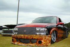 Chevy S10 Bagged Trucks, Mini Trucks, Cool Trucks, S10 Blazer, Chevy S10, S 10, Custom Trucks, Cars And Motorcycles, Skulls