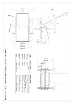 Furniture Design Plan diy furniture | plans for red/blue chair (gerrit rietveld