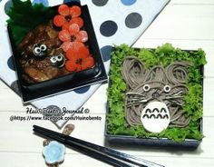 Posted from @HuiyinPhua My Neighbour Totoro Soba Bento✶ @abbey Phillips Regan Truax://www.facebook.com/Huinobento #kyaraben #HuiのBentoJournal #tororo #obentoart