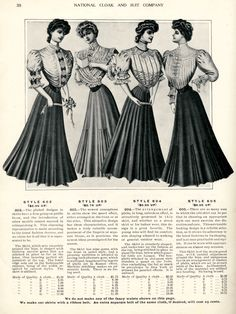 Fall and Winter Dresses from the National Cloak and Suit Co. Catalogue ~ Clearly Vintage