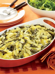 There's no sauce to mask the fresh flavors of the potatoes, asparagus, and onion in this side-dish casserole.