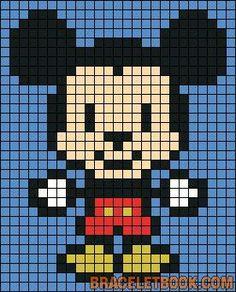 DIY other Baby Mickey Mouse Perler Perlenmuster Minecraft Pixel Art Ideen Vorlag Pixel Art Emoji, Pixel Art Anime, Cross Stitching, Cross Stitch Embroidery, Cross Stitch Patterns, Hama Beads Patterns, Beading Patterns, Loom Patterns, Loom Beading