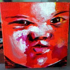 Syrian Red 5x5 mixed media on canvas #qrcky #syria #سوريا #iraq #syrian #gaza #kuwait #war #peace #art #painting #streetart #instaart