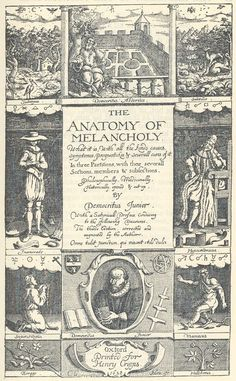 psyched: The Anatomy of Melancholy. (Democritus Junior)