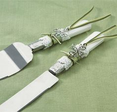 irish wedding cake servers green wedding cake server set beaded custom 16483